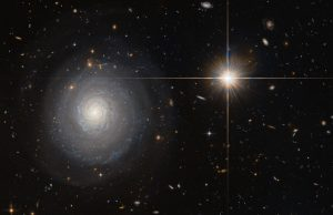 Hubble Views Starburst Galaxy MCG+07-33-027
