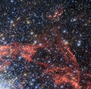 Hubble Views Supernova Remnant SNR 0509-68.7