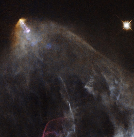 Hubble Views a Glowing Jet From A Young Star