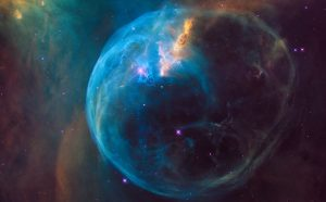 Hubble Views a Star 'Inflating' a Giant Bubble