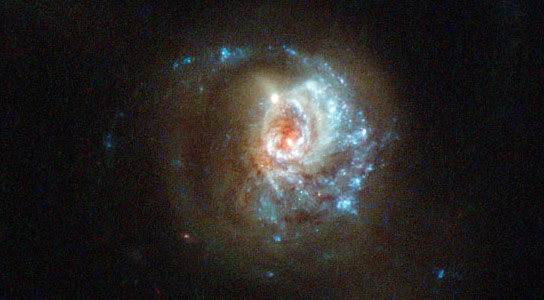Hubble Views a Swirl of Star Formation