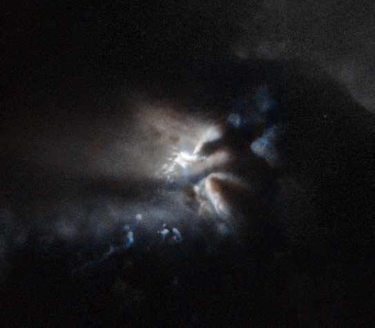 Hubble Views a Very Young Star Being Born
