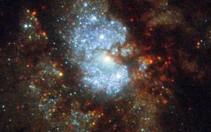 Hubble Views the Hidden Galaxy