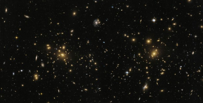 Hubble Views the Many Faces of Abell 1758