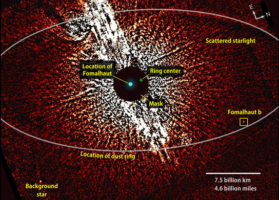 Hubble shows the vicinity of the star Fomalhaut
