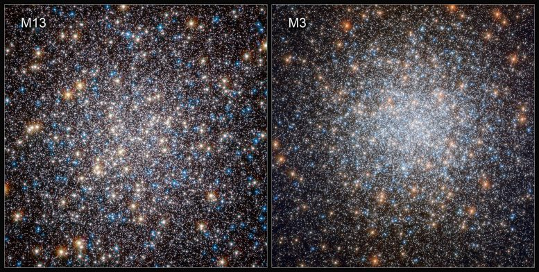 Hubble's Views of M13 and M3