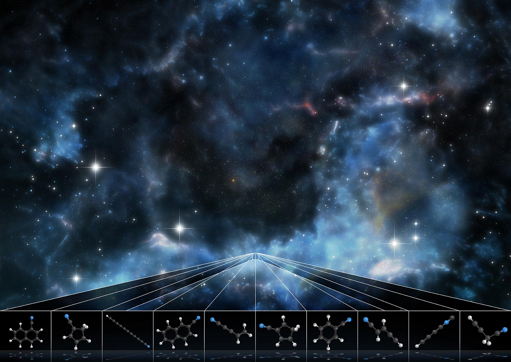 GOTHAM researchers have discovered a repository full of complex molecules never before seen in space