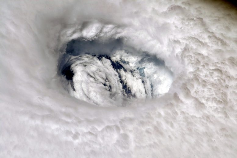 Hurricane Dorian Eye from the International Space Station