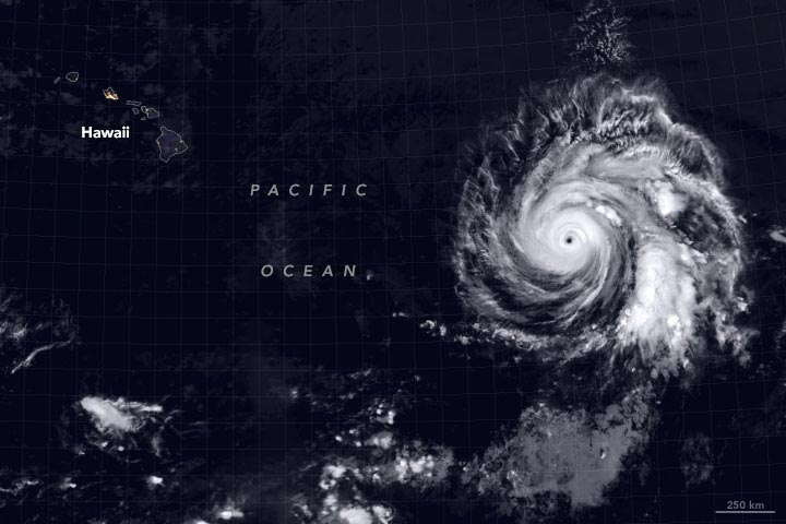 Hurricane Douglas July 24, 2020 - Annotated