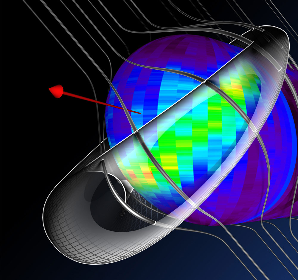 IBEX Explores the Magnetic System Beyond the Solar Wind