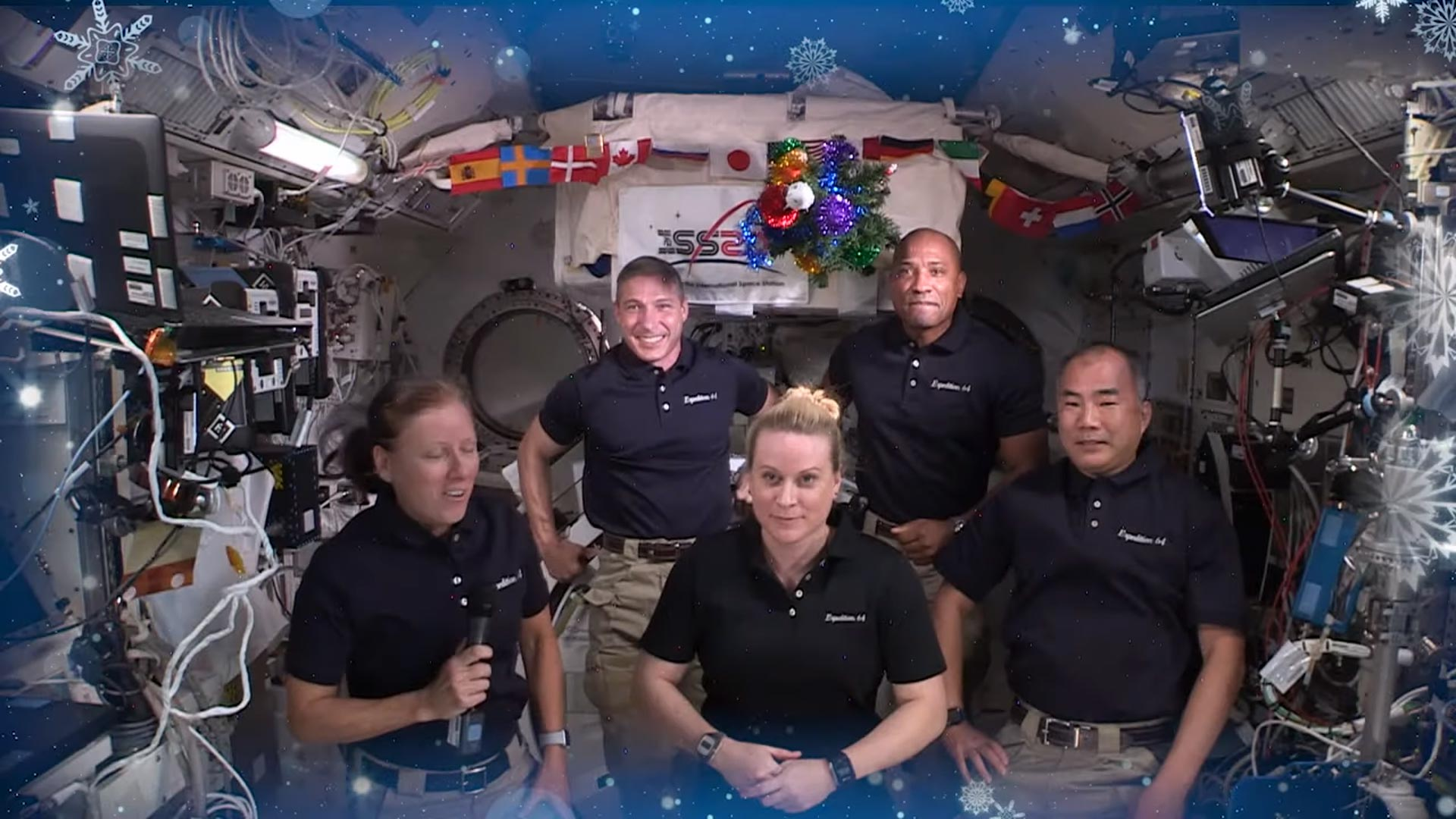Santa visits ISS astronauts as they celebrate Christmas in space