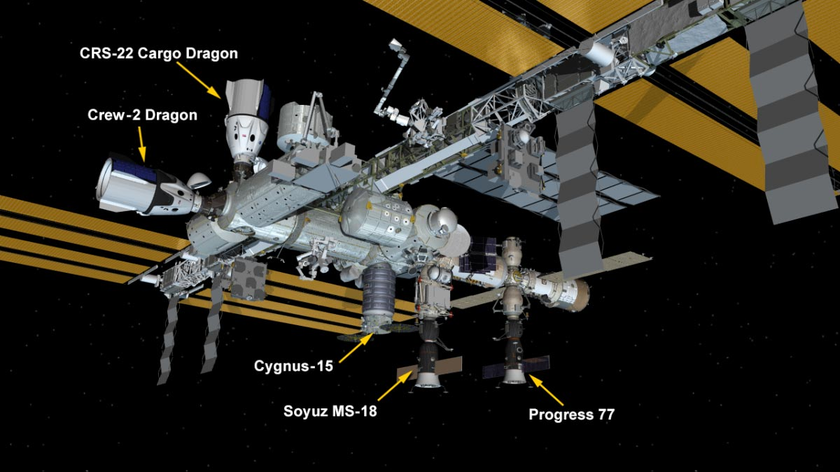 SpaceX Cargo Craft Docks to International Space Station