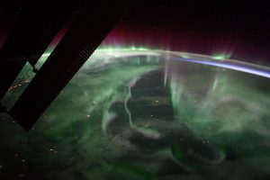 ISS Views Northern Lights Over Canada