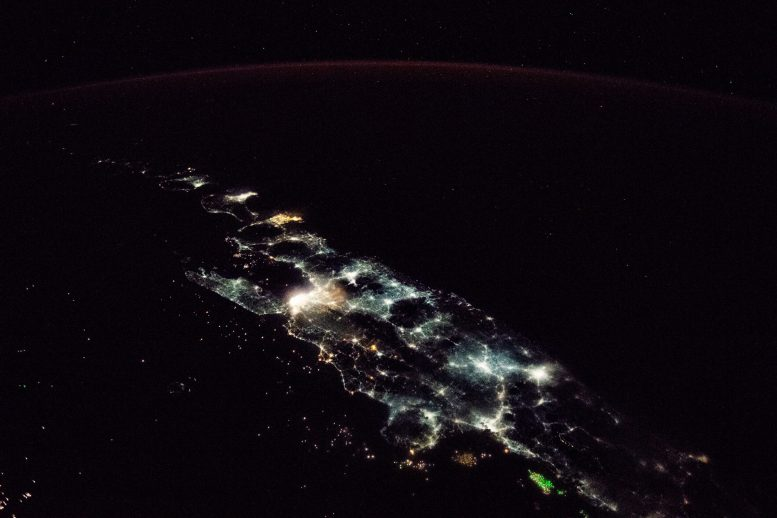 ISS Views the Lights of Indonesia's Largest Island