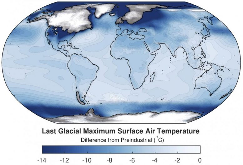 Ice Age Surface Air Temperature