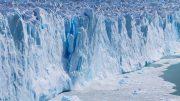 Ice Calving Massive Glacier