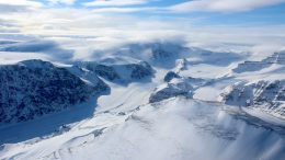 Ice Capped and Snow-Covered Mountains of Coastal West Greenland