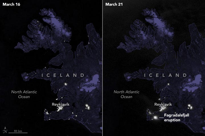 Iceland Volcanic Eruption March 2021