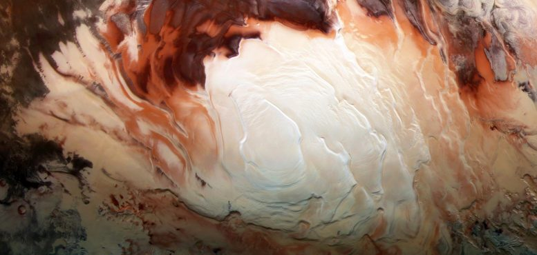 Icy Cap Covers Mars South Pole