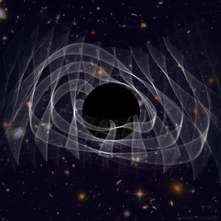 Illustration Black Hole Ringing