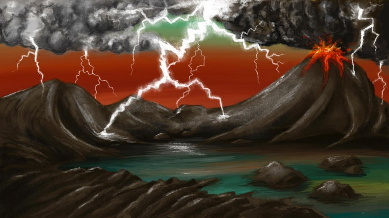 Illustration of Early Earth