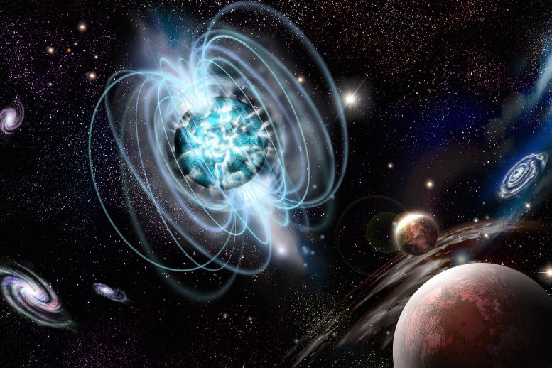 Illustration of Magnetar Magnetic Star