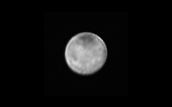 Image of Charon only from the New Horizons' Long Range Reconnaissance Imager