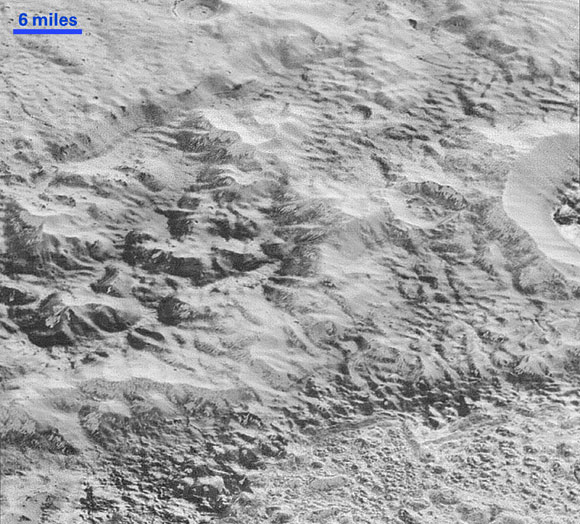 Image of Pluto's Badlands