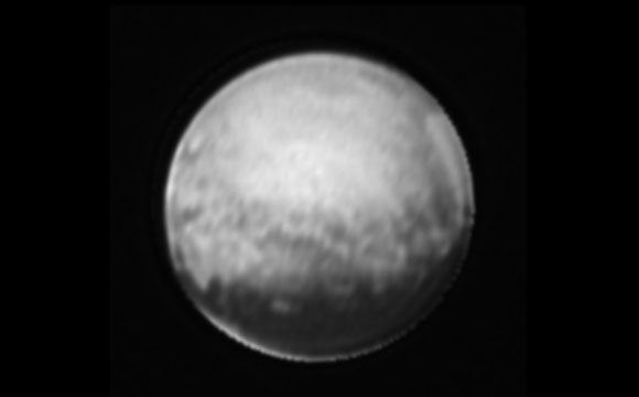 Image of Pluto only from the New Horizons' Long Range Reconnaissance Imager