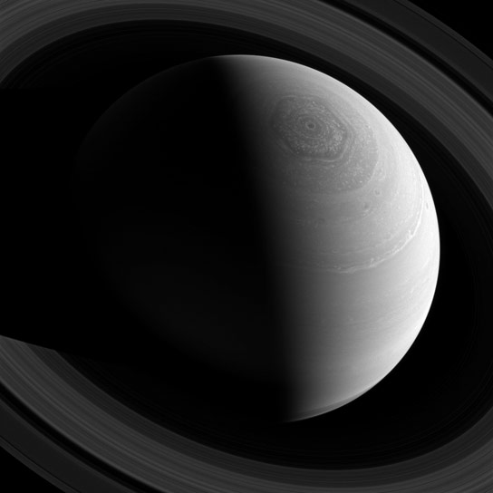 Image of Saturns Hexagonal Shaped Jet Stream