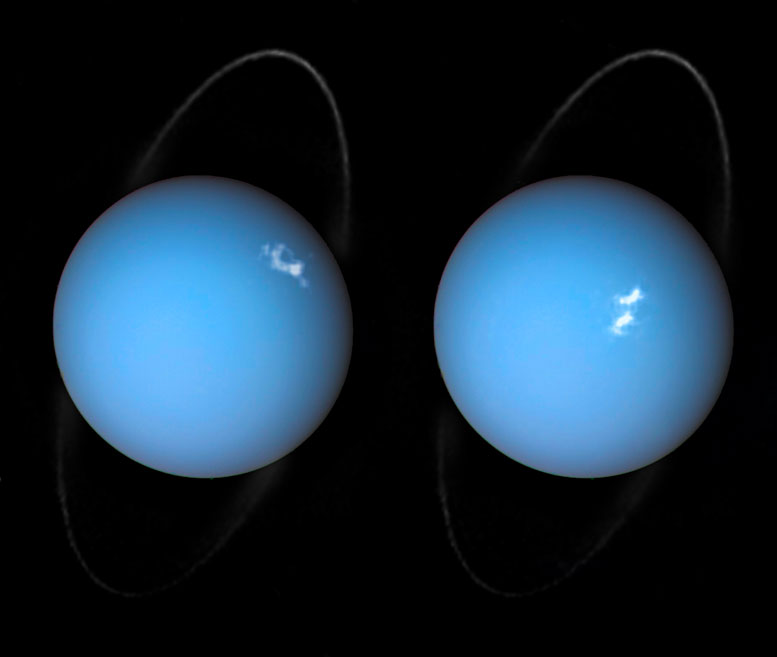 Image of the Aurorae on Uranus