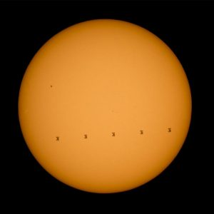 Image of the International Space Station Transiting the Sun