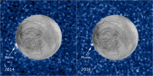 Images Show a Plume of Material Erupting on Jupiter's Icy Moon Europa
