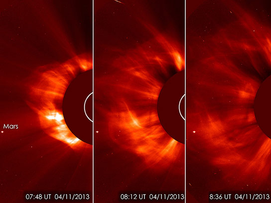 Images of a Coronal Mass Ejection