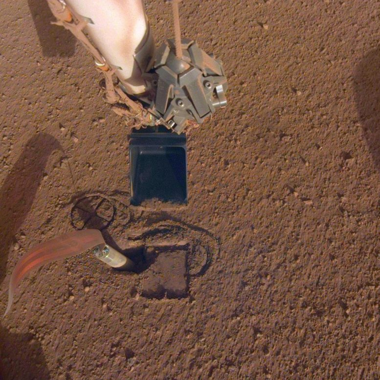 InSight Robotic Arm Scoop