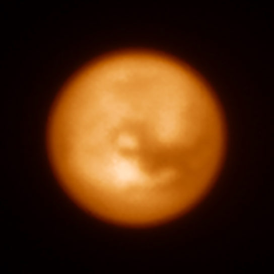 Infrared Image of Saturns Moon Titan