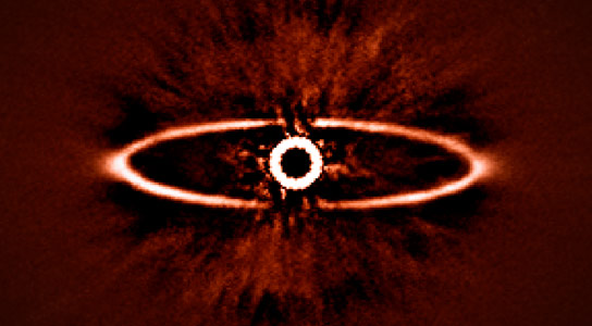Infrared Image of the Dust Ring Around Star HR 4796A