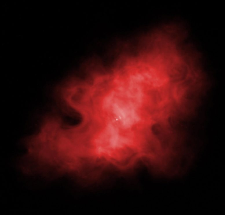 Infrared View of Crab Nebula