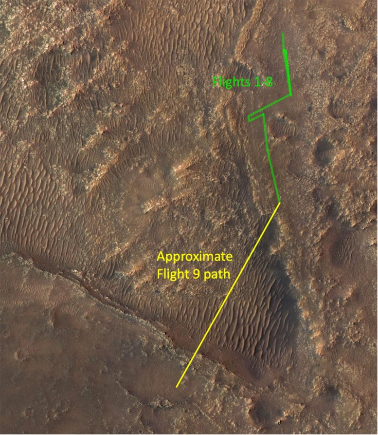 Ingenuity Mars Helicopter Flight Path 9