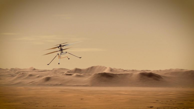 Ingenuity Mars Helicopter Flying