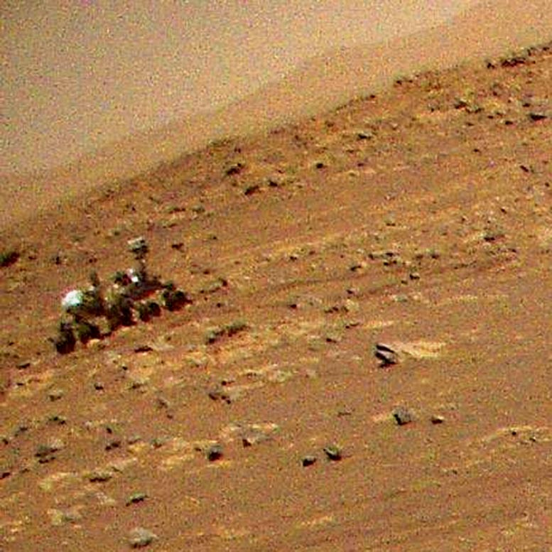 Ingenuity Spots Perseverance Rover From the Air
