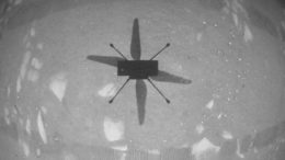 Ingenuity's First Image From the Air