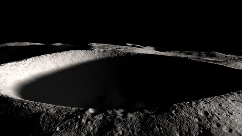 Inside Dark, Polar Moon Craters