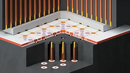 Integrated Superconducting Qubits Schematic