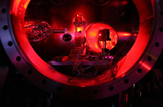 Interior of a Linac Coherent Light Source experimental chamber at SLAC