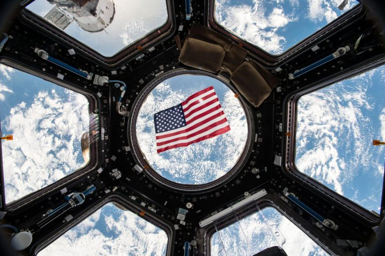 International Space Station US Flag