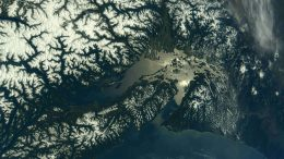 International Space Station Views Mount Rainier