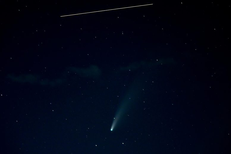 International Space Station and Comet NEOWISE