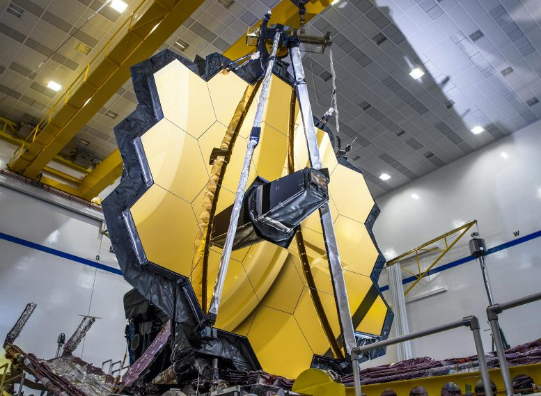 James Webb Space Telescope Mirror Deployed