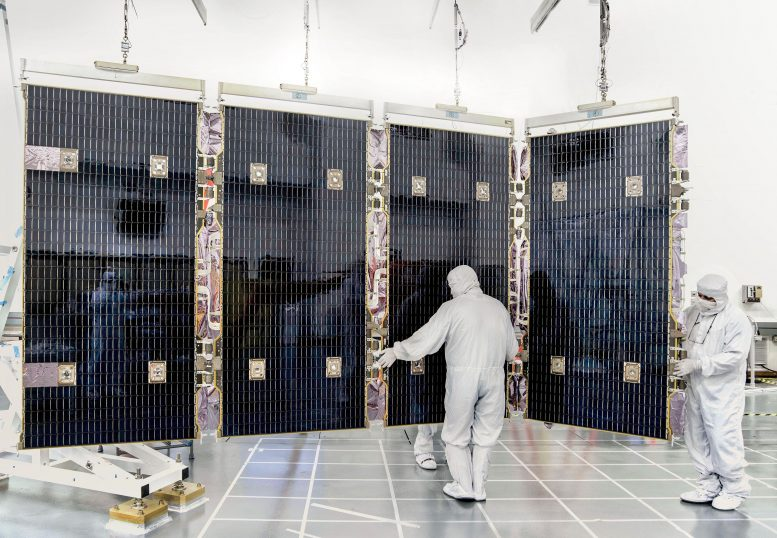 James Webb Space Telescope Solar Array Test